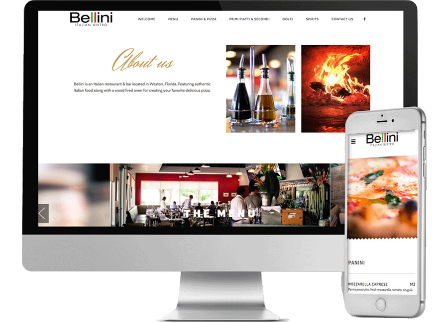 Restaurant website design miami